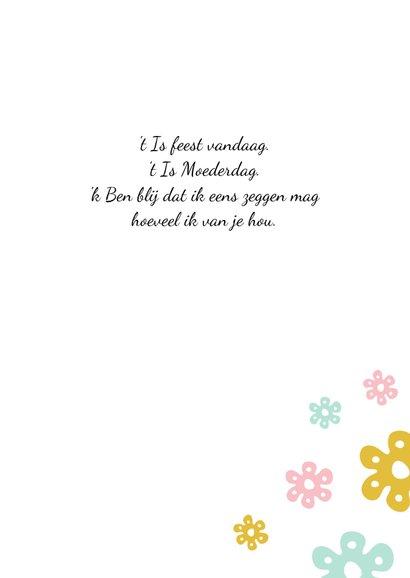 Moederdag kaart bloemen stippen 3