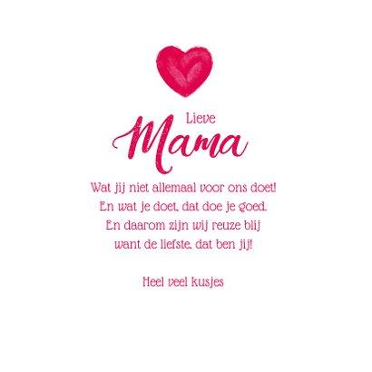 Moederdag kaart groot hart allerliefste mama 3