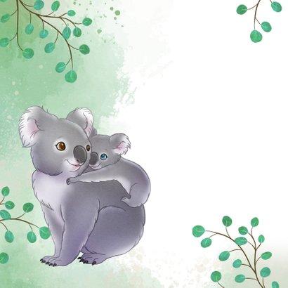 Moederdag kaart met mama koala en baby  2