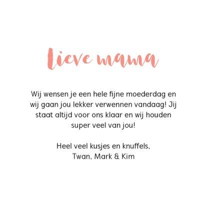 Moederdag kaart - Mom turned upside down spells wow 3