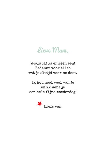 Moederdag kaart quote 'Great mom' 3