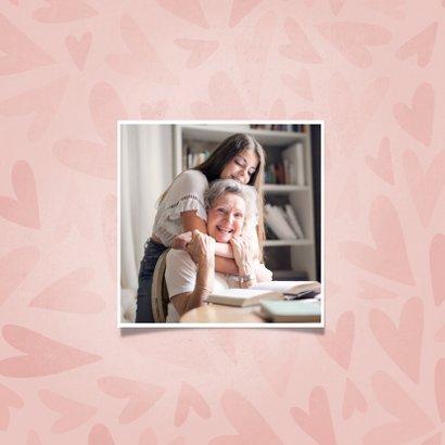 Moederdag kaartje met hartjes de liefste OMA dat ben jij 2