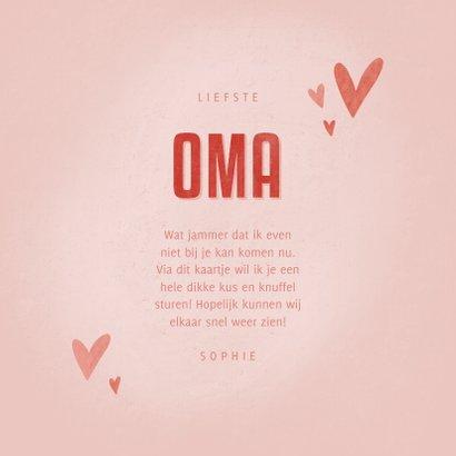 Moederdag kaartje met hartjes de liefste OMA dat ben jij 3