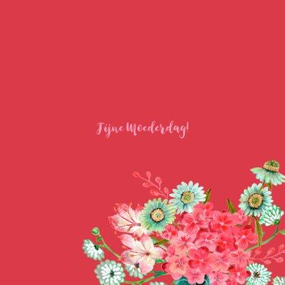 Moederdag klaprozen bloemen krans 3