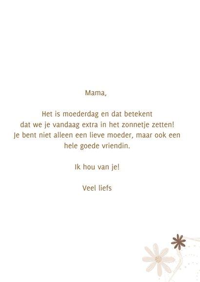 Moederdag Lieve mama bloemetjes 3