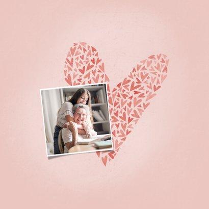 Moederdag Oma kaartje OMA met hart, foto en naam 2