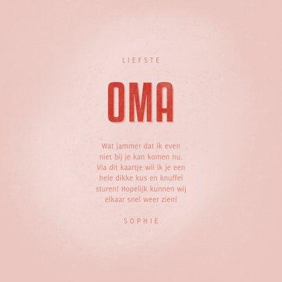 Moederdag Oma kaartje OMA met hart, foto en naam 3