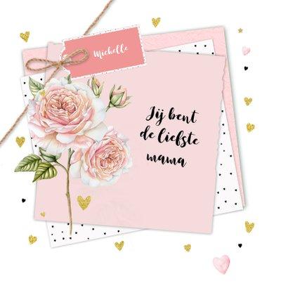 Moederdag roos op papiertjes 2
