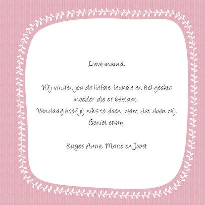 Moederdag roze bloemen - SV 3