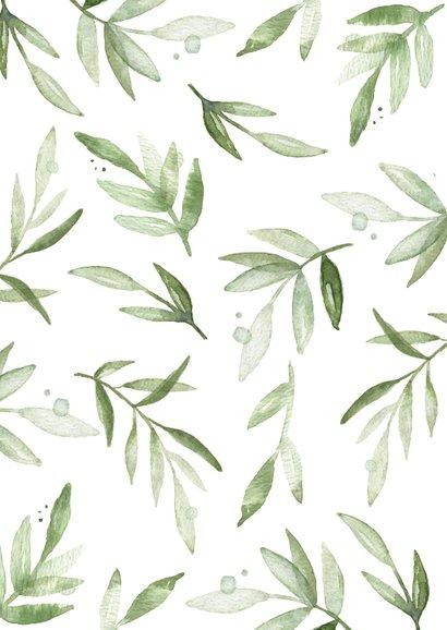 Moederdag tegoedbon bladeren, aanpasbare tekst 2