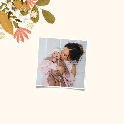 Moederdag vierkant mama met bloemen 2