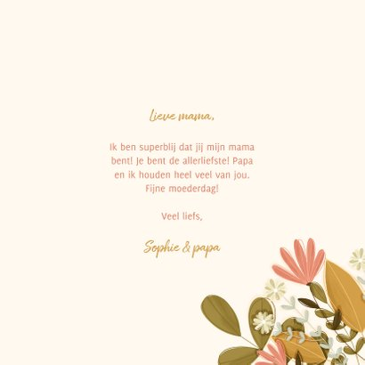 Moederdag vierkant mama met bloemen 3