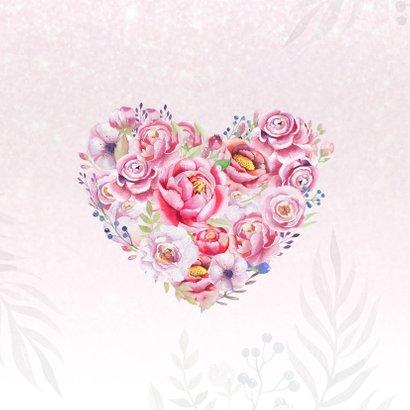 Moederdaghart met rozen 2