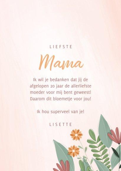 Moederdagkaart een bloemetje voor jou 3
