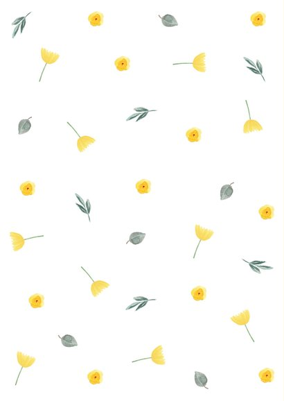 Moederdagkaart gele bloemetjes 2