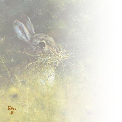 Moederdagkaart konijn in het wild 2