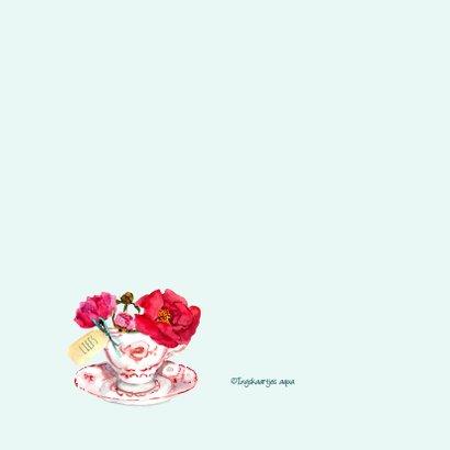 Moederdagkaart Kopje met vrolijke bloemen 2