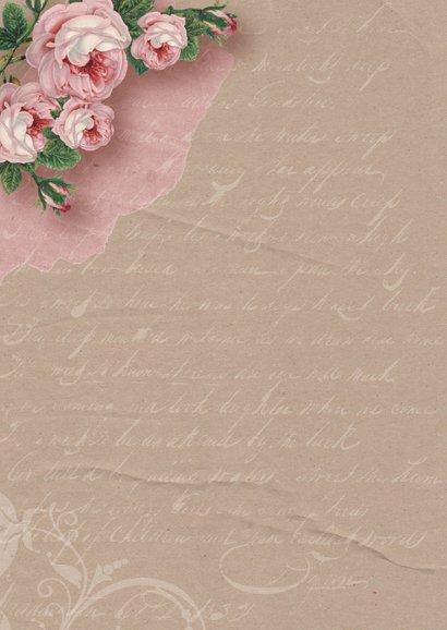 Moederdagkaart kraftprint rozen 2