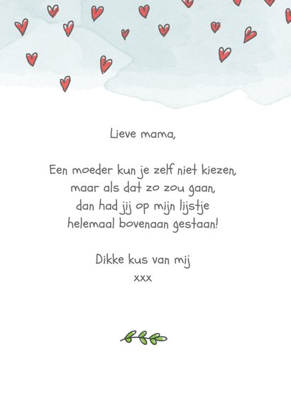 Moederdagkaart met 9 moederfiguurtjes 3