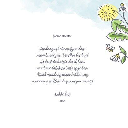 Moederdagkaart met bloemen lente en foto 3