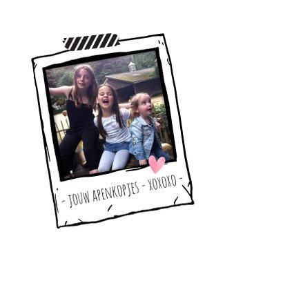 Moederdagkaart met de tekst We love Mom 2