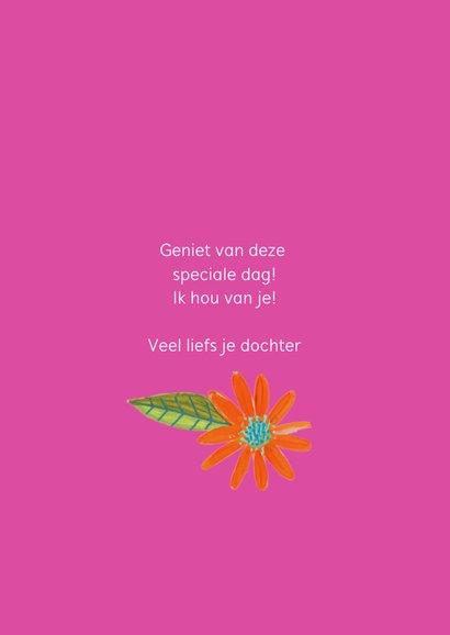 Moederdagkaart met foto en bloemen rand 3