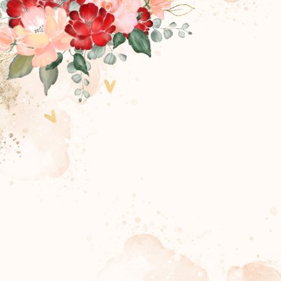 Moederdagkaart met hertje en rozen 2