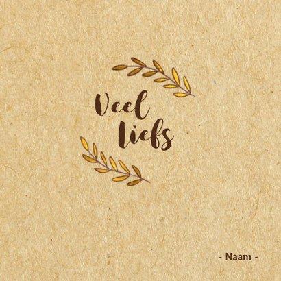 Moederdagkaart met illustratie  & goud accenten 3