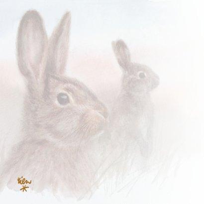 Moederdagkaart met konijn 2
