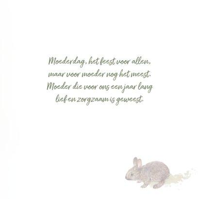 Moederdagkaart met konijn 3