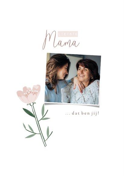 Moederdagkaart roze bloemen patroon liefste mama 2