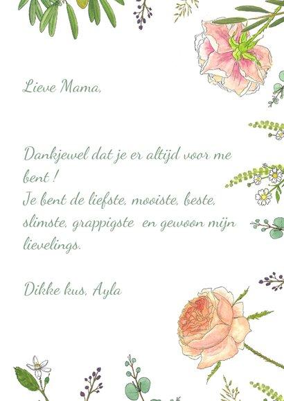 Moederdagkaart rozen en eucalyptus 3