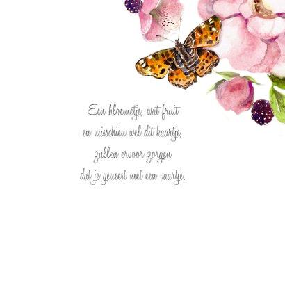 Beterschapskaart Rozenstruik vlinder 3