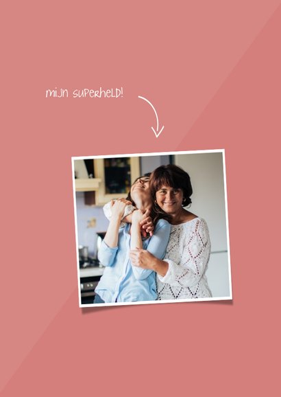 Moederdagkaart 'super bonus mama' aanpasbare kleur 2