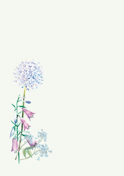 Moederdagkaart waterverf-bloemen 2