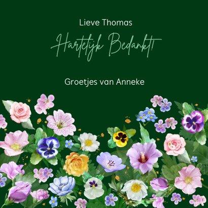 Mooie bloemenkaart met diverse bloemen zoals rozen 3