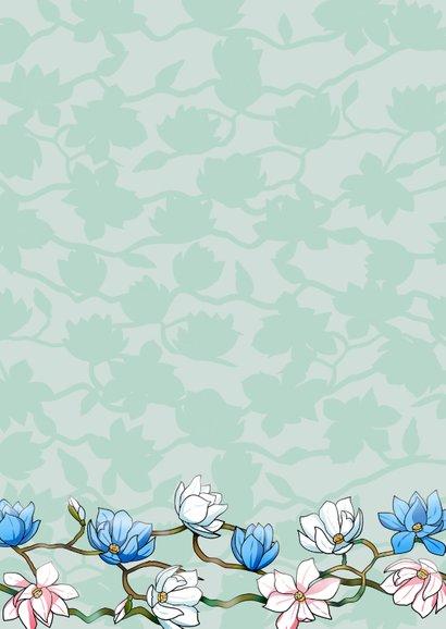 Mooie bloemenkaart met Japanse Magnolia's 2