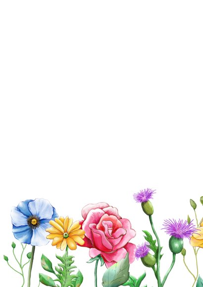Mooie bloemenkaart om een vriendin te bedanken. 2