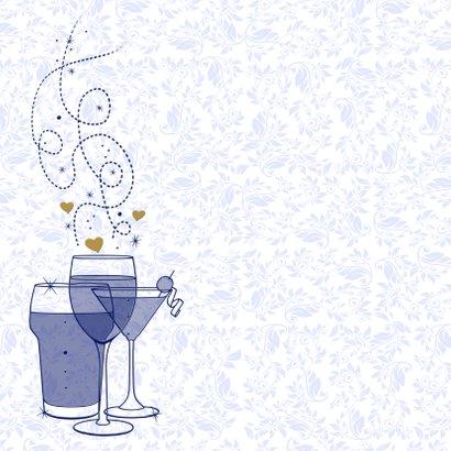 Mooie jubileumkaart uitnodiging 25 jaar samen 2