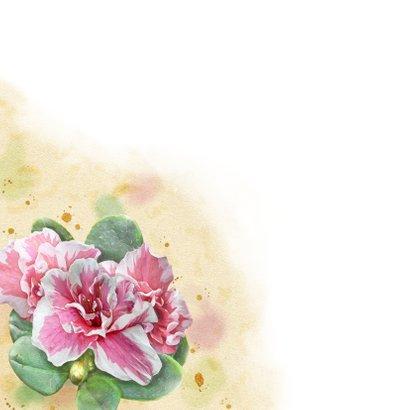Mooie kerstkaart met lelies en rhododendron 2