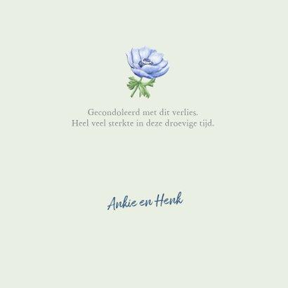 Mooie klassieke condoleancekaart met bloemen 3