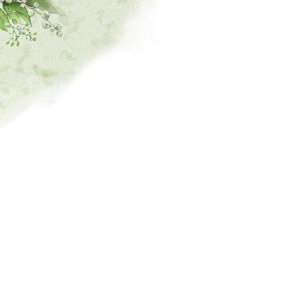 Mooie klassieke condoleancekaart met lelies en takjes 2