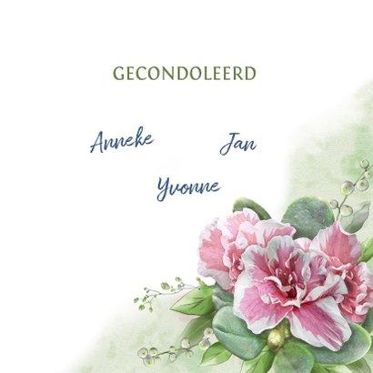 Mooie klassieke condoleancekaart met lelies en takjes 3