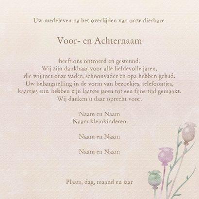 Mooie rouwkaart met papaver op gewassen achtergrond en foto 3