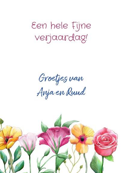 Mooie verjaardagskaart met diverse bloemen 3