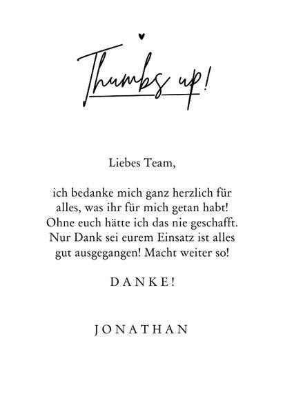Motivationskarte Dankeschön 'Thumbs up' 3