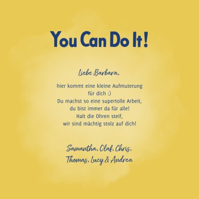 Motivationskarte 'You can do it'  3