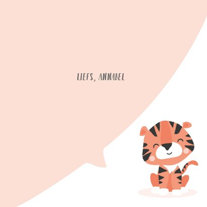 Motiverende kaart met het gezicht van een tijger voorop 3