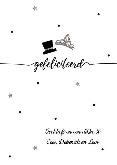 Mr & Mrs getrouwd felicitatie kaart 3