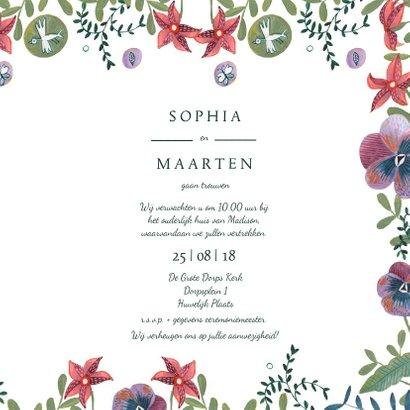 Mr & Mrs trouwkaart Bohemian wedding 3